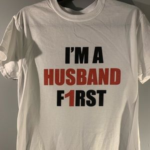 I'm a husband first adult graphic t-shirt